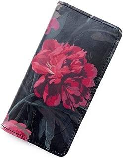 iPhone6sケース iPhone7ケース iPhone8ケース 手帳型 リバティ デカダント ブルームス(ブラック&ピンク) SHOKO MIYAMOTO おしゃれ かわいい マグネット無しでカード安全 スマホケース アイフォンケース Liberty…