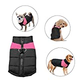 Didog Cold Weather Dog Warm Vest Jacket Coat,Pet Winter Clothes for Small Medium Large Dogs,8, Pink,M Size