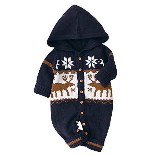 DWQuee ❤️ Baby-Baumwoll-Overall mit Kapuze, Neugeborenes Baby Jungen Mädchen Kinder Strampler Winter Dicke Baumwolle Warme Kleidung Overall