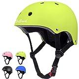 Besttravel Kids Helmet, Toddler Helmet Adjustable Toddler Bike Helmet Ages 3-8 Years Old Boys Girls Multi-Sports Safety Cycling Skating Scooter Helmet- Green