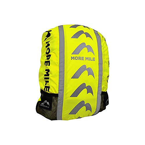 More Mile High Visibility Water-Resistant Backpack Cycle Cover, Weatherproof Reflective Rucksack Cover - Yellow