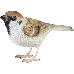 小鳥 造形 バーディ ビル スパロー (スズメ) 4.5×12×8cm 2374