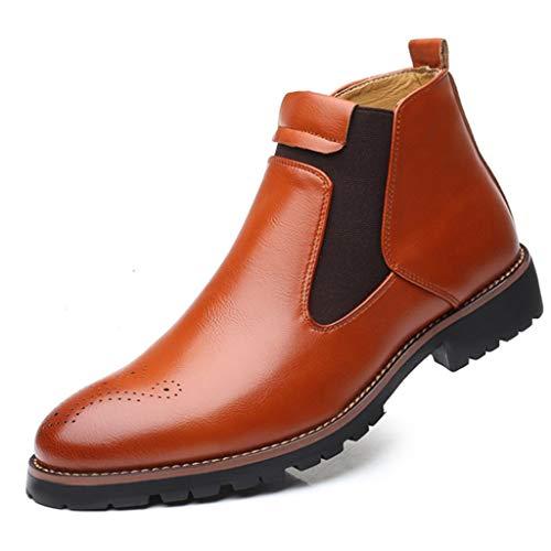 Waart Chelsea Boots Dealer Boot Leer Rustieke gewatteerde boot Lichte handgemaakte Pull-On Martin laarzen High-Top