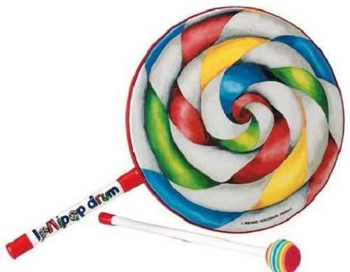 """Remo Lollipop Drum - Tambor de mano infantil, 8 x 1"""" ET-7108-00"""