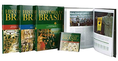 Coleção História Do Brasil Barsa 4 Livros e CD Interativo