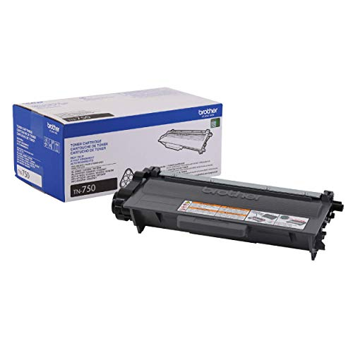 Brother Genuine High Yield Toner Cartridge, TN750, Replacement Black Toner, Page Yield Up To 8,000 Pages, Amazon Dash Replenishment Cartridge