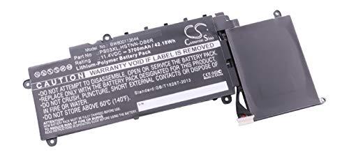 vhbw Akku Ersatz für HP HSTNN-DB6R, 1588-3003, 6EKHK01BB6O03Q, 778813-221, 778813-231 für Notebook (3700mAh, 11,4V, Li-Polymer, schwarz)