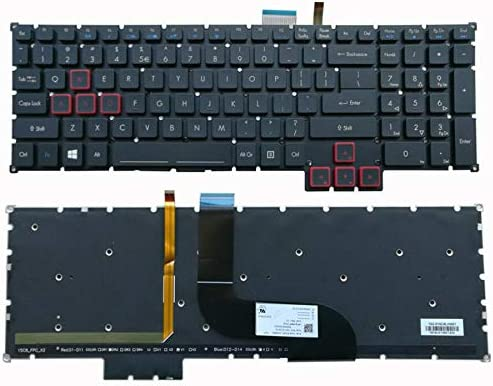 New US Black English Backlit Laptop Keyboard (Without palmrest) Replacement for Acer Predator G9-591 G9-591R G9-592 G9-593 G9-792 G9-793 G5-793 G9-791 G9-791-735A G9-791-79Y3 Light Backlight