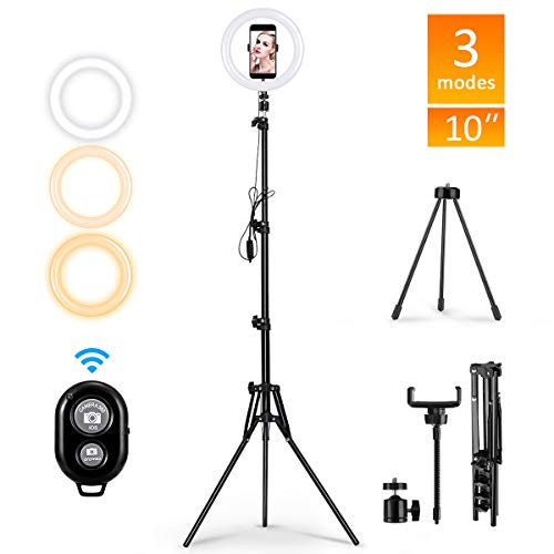 DelongKe Mini LED Camera Light Hot Shoe Adapter for Live Stream Ring Light Kit Light Stand,Phone Holder Makeup YouTube Video,16cm
