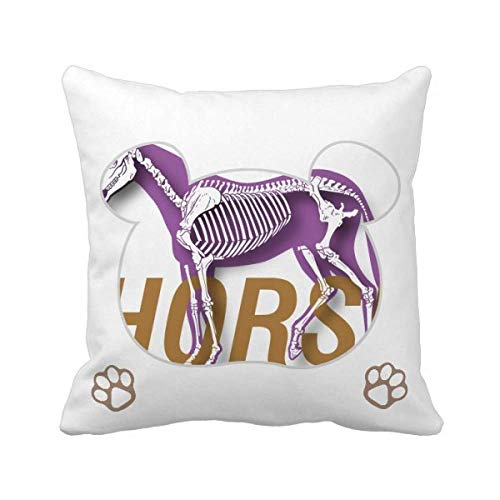 OFFbb-USA - Funda cuadrada para cojín de esqueleto de caballo, diseño de oso