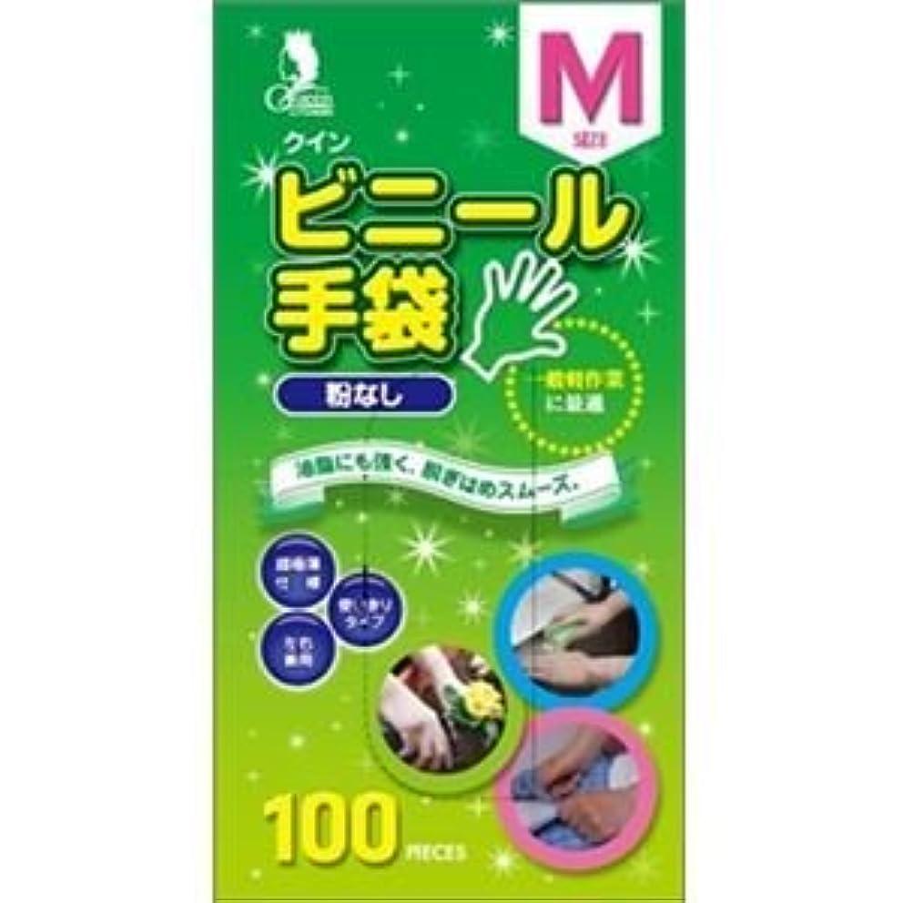 キャロライン好奇心ダブル(まとめ)宇都宮製作 クインビニール手袋100枚入 M (N) 【×3点セット】