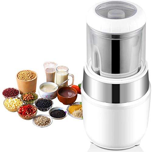 Elektrische Kaffeemühle, 300 Watt Kaffeebohnen | Edelstahl Klingen | 200G Fassungsvermögen | Zum Mahlen Kaffeebohnen Gewürze Kräutern Nüsse Und Getreide
