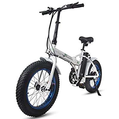 "ECOTRIC Electric Fat Tire Folding Bike 36V 12Ah Lithium Battery 500W Beach Snow Mountain Bicycle 20"" Ebike Moped"
