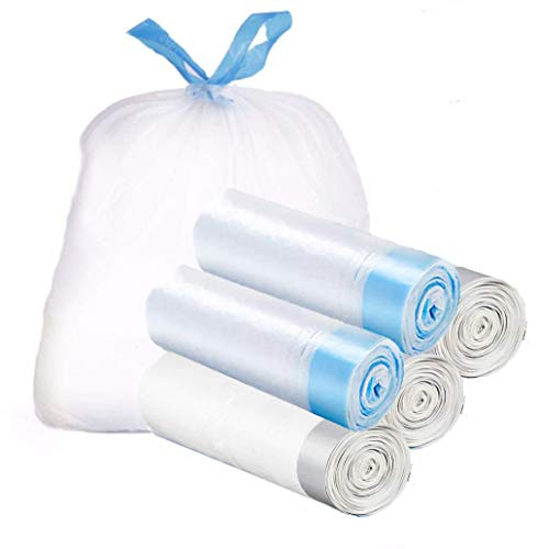 NewSeed ゴミ袋 30L-35L 紐付き ひも付きゴミ袋 取っ手付き ごみ袋 5ロール/100枚セット 縦70cm*横60 収納袋 とって付き 業務用 家庭用 キッチンバッグ