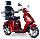 E-Wheels - EW-36 Elite Scooter with Electromagnetic Brakes - 3-Wheel - Red - Phillips Power Package TM - to $500 Value