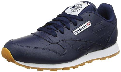 Reebok Jungen Classic LTH AR1312 Sneaker, Blau (Collegiate Navy/Gum), 38 EU