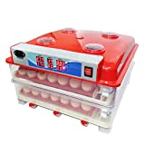 Incubators for 102 Hatching Eggs with Automatic Egg Turner Free Egg Candler Digital