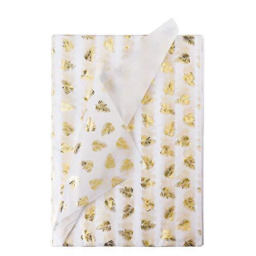 RUSPEPA Geschenkpapier Seidenpapier - Metallisches Blattgold Seidenpapier für Heimarbeit Bastelarbeit Geschenkverpackung - 50 X 70 cm - 24 Blatt