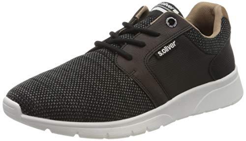 s.Oliver Herren 5-5-13618-34 Sneaker, Schwarz (Black 001), 43 EU