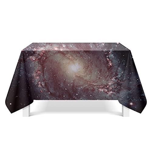 CYYyang Biancheria di Cotone per Tavolo Copertura Antipolvere, Arte Nebulosa Luminosa