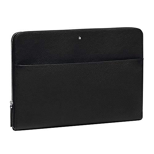 Montblanc meesterstuk Soft Grain schoudertas, 34 cm, zwart