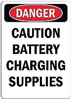 ノベルティ屋外サインヤード装飾、t注意バッテリー充電用品、コーヒーオフィスプールヤード公共トイレ駐車場家の壁の装飾、ヴィンテージアートポスター、家の壁の装飾