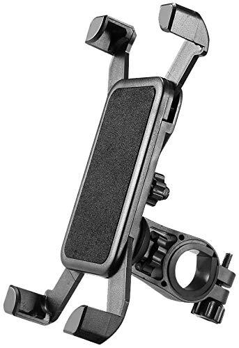 SUNMI Bike Phone Mount Anti Shake and Stable Cradle Clamp with 360° Rotation Bicycle Phone Mount/Bike Accessories/Bike Phone Holder -Black