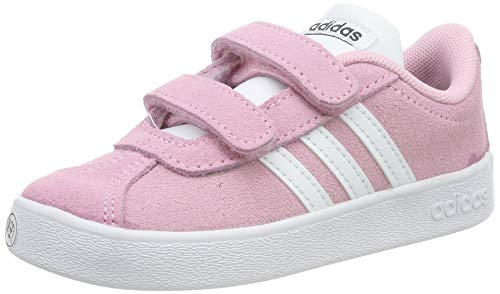 adidas Unisex Kinder Vl Court 2.0 CMF I Gymnastikschuhe, Pink (True Pink/FTWR White/Grey Six True Pink/FTWR White/Grey Six), 18 EU