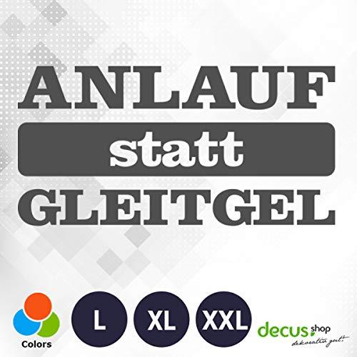 Decus ANLAUF STATT GLEITGEL XL 1544 (grau) // Sticker OEM JDM Style Aufkleber