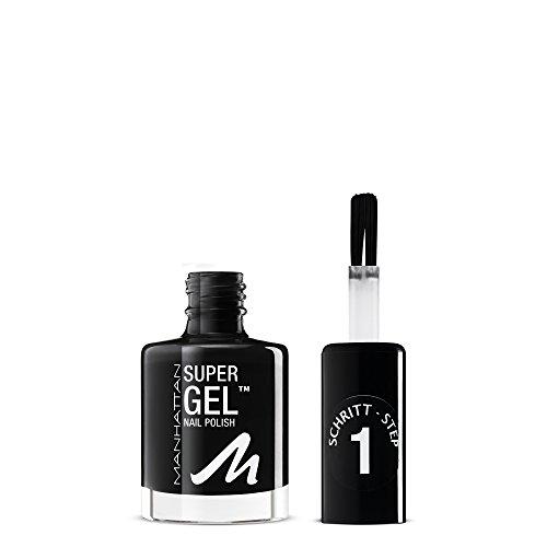 Manhattan Super Gel Nagellack – Gel Maniküre Effekt ganz ohne UV Licht – Schwarzer Nail Polish...