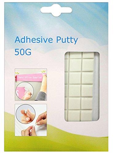 Tack blanco, adhesivo no tóxico removible reutilizable práctico, Yanyi Brand tachuela del cartel, masilla pegajosa (Súper viscosidad) (50g)
