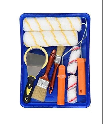 Wandfarbe, Farbroller Set, mit Verschiedenen Paiting-Werkzeugen Farbroller für den Haus- oder Gewerblichen Gebrauch. (11-teiliges Set)