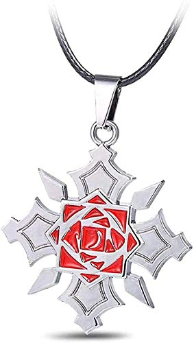 Collar Vampire Knight Rose Colgante Collar Sin decoloración Joyería Ambiental Collar Colgante para Mujeres Hombres