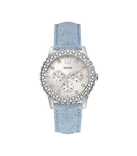 Guess Damen Analog Quarz Uhr mit Leder Armband W0336L7
