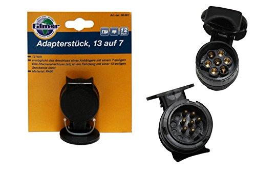 """Filmer 36661 Adapterstück """"13 auf 7"""" 13-polige Steckdose auf 7-poligen DIN-Stecker"""