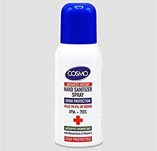 COSMO Advanced Instant Antiseptic & Disinfectant Hand Sanitizer Spray, 50 ml
