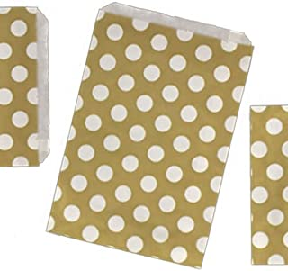 "100 Yellow 5/"" x 5/"" Candy Paper Bags Sweet Buffet Gift Shop Party Cart Wedding"