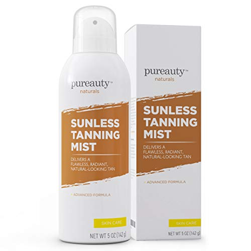 Spray Tan Self Tan Self Tanner Face for Radiant, Natural Glow, Quick-Drying, Easy to Apply Flawless Sunless Tanner, Natural Skin Tone Enhancer Tanning Spray Fake Tanner - Pureauty Naturals - 5 oz