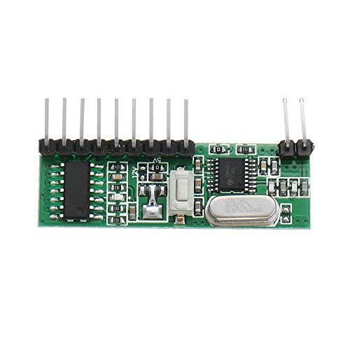 CLJ-LJ Módulo de relé, con Control Remoto inalámbrico RF Interruptor de Control de 12V DC de 6 Canales de Bricolaje Receptor Junta Módulo de relé