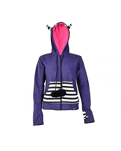 Cupcake Cult – Tiger Hood Girl-Kapuzenjacke, violett, Grösse L