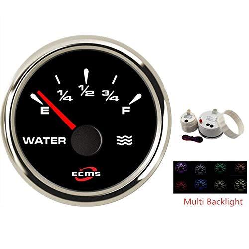 HYY-YY 52mm boot auto watertank vulstandmeter meter meter met achtergrondverlichting 9-32V voor auto-vrachtwagenboot