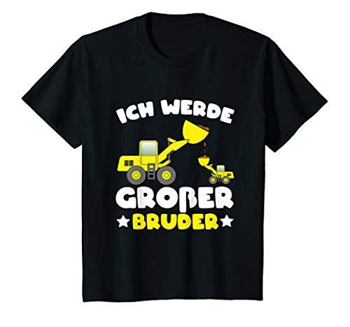 Kinder Ich Werde Großer Bruder 2020 Bagger Jungen T-Shirt