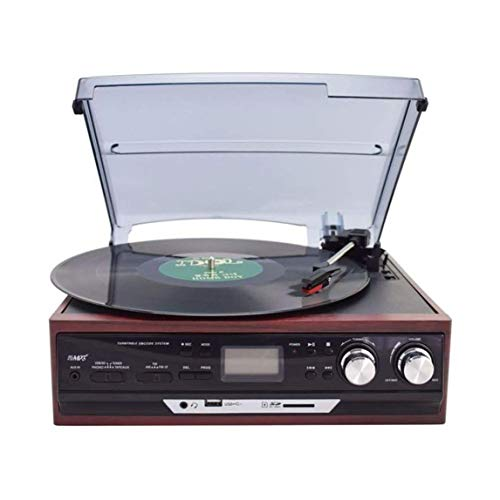 Great Features Of ALIZJJ Turntable Record Player Bluetooth/FM Player Vintage Record Player Classic B...