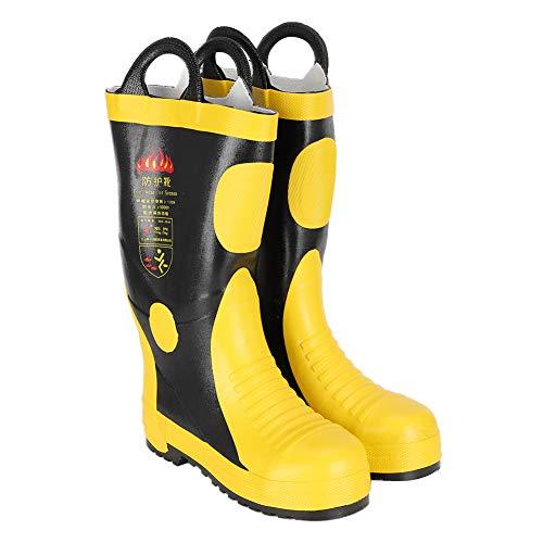 Botas de bombero, botas de seguridad contra incendios de goma Zapatos impermeables resistentes a altas temperaturas Protección contra bomberos(42)