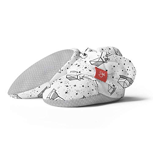 Goumikids goumiboots, Soft Stay On Booties Keeps Feet Warm and Adjusts to Fit as Baby Grows(Faces in The Stars, 3-6 Months)