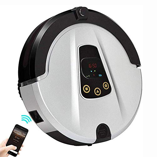 Barir Robot Aspirador con una Potencia de succión, de Carga, Tranquilo, for los Suelos Duros y alfombras, limpiadores de vacío robótico automático Barredora Fácil Programa de Limpieza