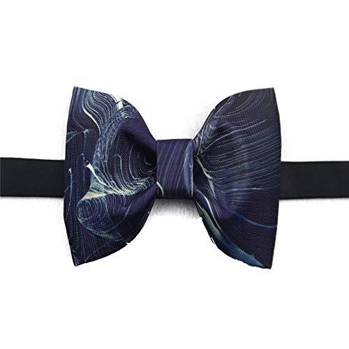 Keliour Der vorgebundene Bogen der Männer Verstellbare Klassische Herren Seidendruck Fliege Krawatten für Hochzeitsfeier