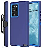 Stroson Galaxy Note 20 Ultra 5G Case with Belt Clip Heavy Duty Shockproof Drop Protection Full Body Rugged Cover Kickstand Phone Case for Samsung Galaxy Note 20 Ultra (Navy/Blue)