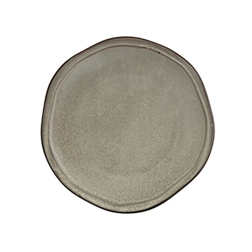 D&V 6 Piece Stōn Porcelain Dinnerware Dinner Plate Set, 10', Mist