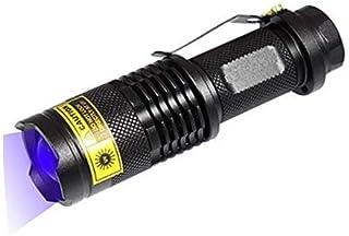comprar comparacion Linterna UV 365nm Luz ultravioleta 3W UV LED Antorcha de luz negra con zoom para detección de falsificaciones Verificación...